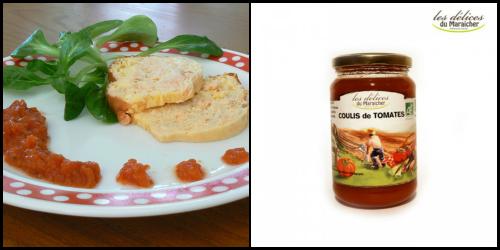 terrine crabe et coulis de tomates