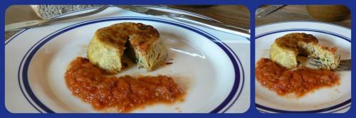 gâteau de foie de volaille, sauce tomates, producteur