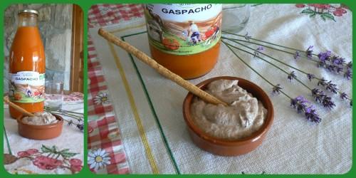 Gaspacho et fromage frais aux olives/Les Délices du Maraîcher