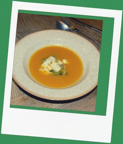 soupe butternut et topinambour fondue de poireaux